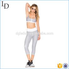 Stripes à la mode en gros sport costume porter 2 pcs yoga respirant porter