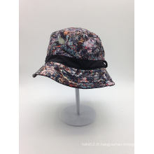 Chapeau à godet imprimé à sublimation OEM avec votre logo d'étiquette (ACEK0112)