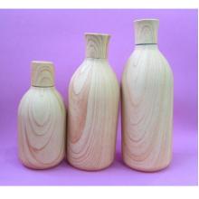 250 ml y botella de color de madera de 500 ml con tapa de madera de color