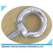 Drop de haute résistance en acier au carbone forgé boulon à œil levage galvanisé (DIN580)