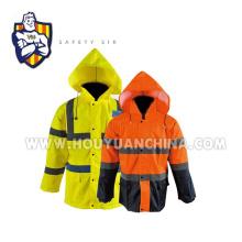 high visibility work jacket parka winter en20471 safety coat men working uniform clothing