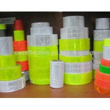 High prismatic reflective pvc tape / PVC crystal reflective tape / warning reflective tape pvc