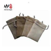 Descanse o saco de cordão de linho barato relativo à promoção da impressão feita sob encomenda