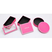 Pink Color Apparel Packaging Box With Silver Logo