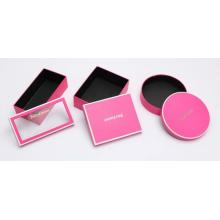 Caixa de empacotamento do fato cor-de-rosa da cor com logotipo de prata