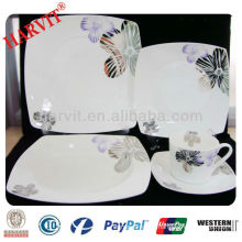 20pcs Square fine bone china dinner set