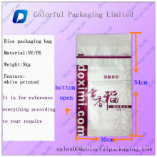 Verpackungstaschen für Reis / 50lb Verpackungstüten für Reis / recycelte Verpackungstaschen für Reis