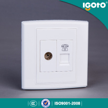 Igoto UK Standard Socket de TV y 4 Tel Tel socket