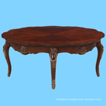 Vietnam wood carved furniture classic center table wooden designs
