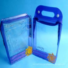 Nueva pequeña bolsa de plástico promocionable de encargo del tocador del logotipo Pvc