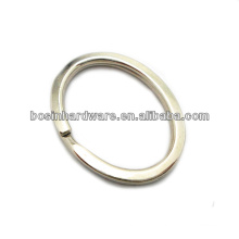 Fashion High Quality Metal Flat Oval Split Ring