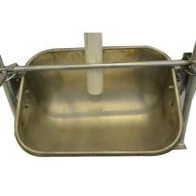 Deep-groove sow feed intake pig feeder used for pig farrowing