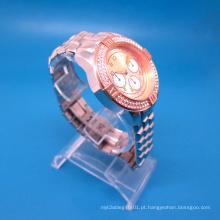 Relógio de Moda de Quartzo em Aço Inoxidável Masculino Novo Estilo Hl-Bg-001