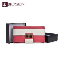 HEC Heißer Verkauf Mode Lange Design Multicolor Optional Frauen Brieftasche Große Kapazität Bargeld Kreditkarteninhaber Damen Geldbörse
