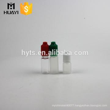 E liquid 5ml 10ml dropper bottle PET/PP plastic bottle with childproof cap