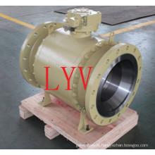 A classe 150 flangeou válvula de bola de flutuação de aço inoxidável com projeto do fogo seguro