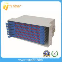 Caixa de terminação ODF de 96 núcleos / caixa de unidade de fiação de emenda de fibra ODF