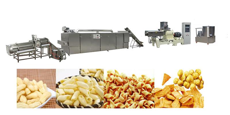 Corn chips 100kg snacks food production line price