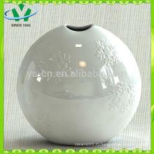 Mordern домашний декор Белая керамическая ваза с цветком