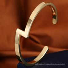 Bijoux populaires manchette or bijoux bracelet manchette