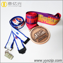 custom sublimation medals holder logo lanyard