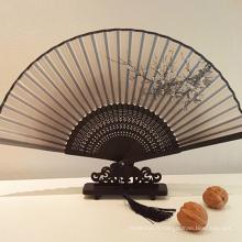 Fan de papier en bois de haute qualité de décoration de fantaisie