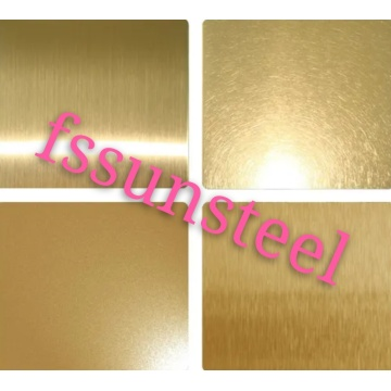 Feuilles de couleur inox N ° 4 GOLD PVD