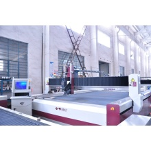 water jet cutting machine with metal cutter
