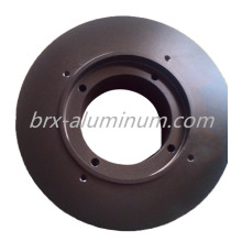 Hard anodized aluminum forged machine part