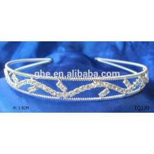 Nueva tiara nupcial del rhinestone de la corona de la boda del rhinestone de la venta al por mayor de la manera con el peine del pelo