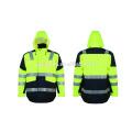 Alta visibilidad chaqueta de seguridad lleva ropa suave ropa Jacke impermeable con relleno acolchado 3m cinta reflectante