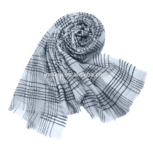 Inner Mongolia manufacturer orders wool blended scarf SWR0212 winter lady warm scarf custom made