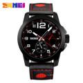 Skmei 9111 skmei brand make your own logo leather quartz watch price