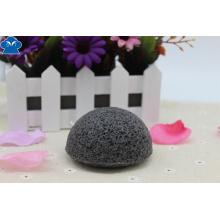 Esponja de carbón de bambú redonda Konjac, esponja Konnyaku