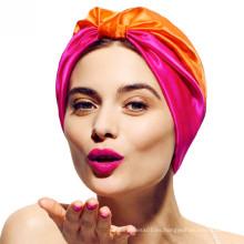 dos colores empalme barato hijab headwrap turbante pañuelos