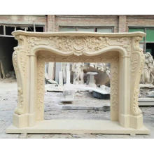 Stone Antique Fireplace Mantel For Sale