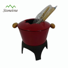 Cast Iron Enamel Cheese Fondue Set