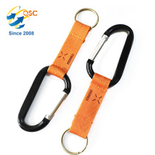 Pear Shape Carabiner with Zinc Plated Spring Snap Hook