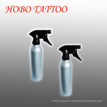 Botella de spray verde de aluminio del lavado del jabón del tatuaje del rociador ajustable