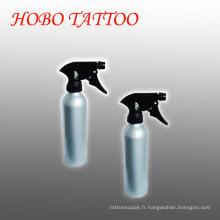 Bouteille de jet verte en aluminium noire de lavage de savon de tatouage de pulvérisateur réglable