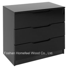 Fashion Simply Painting Bedroom 3 Drawer Chest Dresser (HC32)