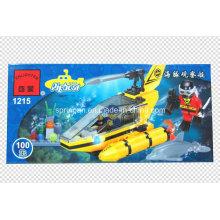 Aqua Series diseñador submarino 100PCS bloquea juguetes