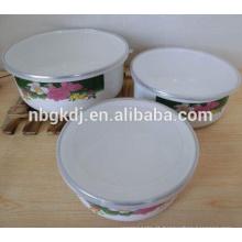 Tigela de esmalte de cultura chinesa com tampa