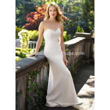 NA1024 Free Shipping Mermaid Sweetheart Sweep Train Backless Lace Wedding Dress