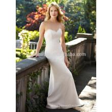 NA1024 Бесплатная доставка Русалка милая Sweep поезд спинки кружева свадебное платье