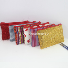 Glitter Custom Pencil Bags Makeup Bag