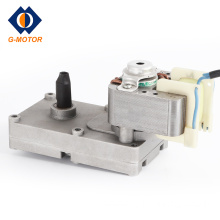 Geared electric motor for microwave oven