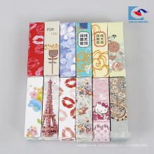 caja de cartón de embalaje hecha a mano lindo colorido del lápiz labial para niños