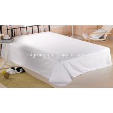 Wholesale white plain satin fabric hotel bedding set 100% cotton bed sheet duvet cover 400TC