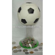 Caixa de moedas de futebol